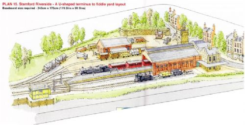 Peco Setrack OO Plan15 - Stamford Riverside - A U Shaped Terminus to Fiddle Yard Layout.